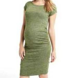 NWT Maternity Softspun Midi T-Shirt Green Dress